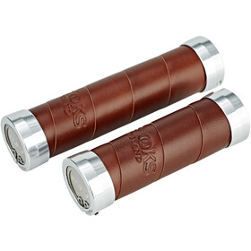 Brooks Slender Leather Handlebar Grips brown